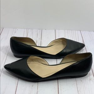 Marc Fisher Sunny black leather flats